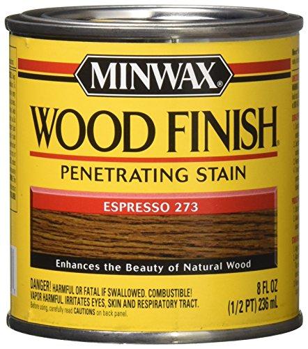 Finish Wood Espresso Dark (Minwax 227634444 Wood Finish Penetrating Interior Wood Stain, 1/2 pint, Espresso)