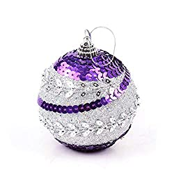Hanging Xmas Tree Decorations Sequin Ball