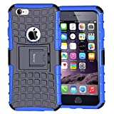 Korecase Tire iPhone 6 6S Case,Apple iPhone 6 Case,Armor Heavy Duty Protection Rugged Dual Layer Hybrid Shockproof Case Protective Cover for Apple iPhone 6 6S 4.7 Inch with Built-in Kickstand
