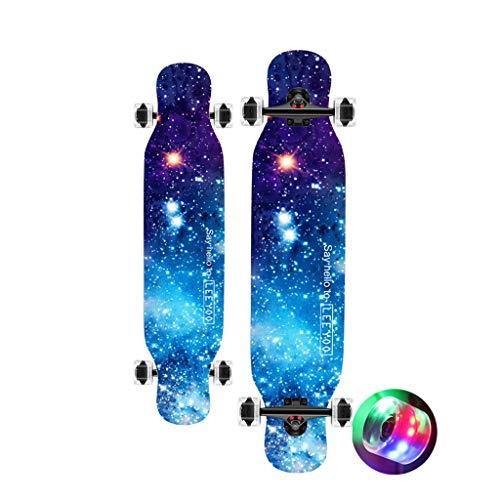 HYE-SPORT Skateboard All-Around Skateboard 42 inch Modern Trick Longboard Gift Set for All Ages -Complete PrO Skateboard-Cool