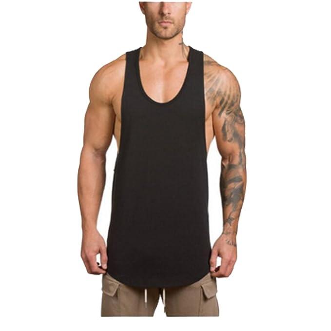 34b31a521ae OGOUGUAN LIC Store Men s Fashion Sleeveless Men s Muscle Gym Workout  Stringer Tank Tops Bodybuilding Fitness Tank