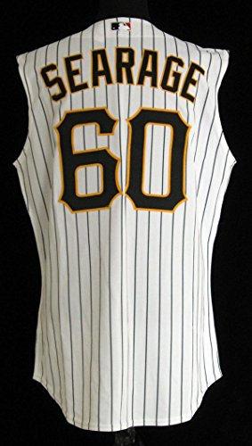 2007 Pittsburgh Pirates Ray Searage #60 Game Used White Pinstripe Jersey – Game Used MLB Jerseys