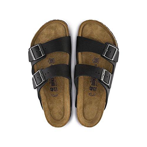 Birkenstock Mens Arizona SF 2-Strap Soft Cork Footbed Sandal Black 46 M EU vjx5UL
