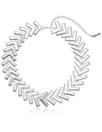 "Steve Madden Snake Textured Fringe Statement Collar Necklace, 18"" with 3"" Extender"