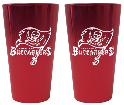 (Boelter Brands Tampa Bay Buccaneers Lusterware Pint Glass Set)