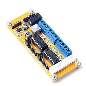 Doble Puente H L293D 4 Módulo Controlador Motor DC Para Arduino 4WD Coche Inteligente