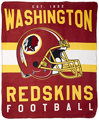 The Northwest Company NFL Washington Redskins Singular 50-inch by 60-inch Printed Fleece (Washington Fleece Throw)