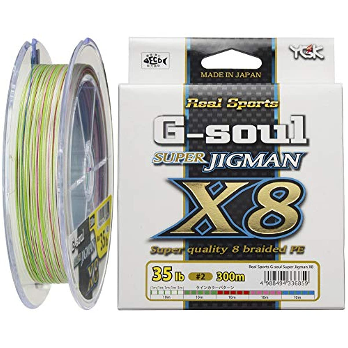 [해외] 요쯔아미 PE라인 G-SOUL 슈퍼 지그 맨 X8 300M 8개