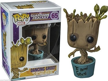Funko POP! Marvel: Dancing Groot #65 Hot Topic Exclusive Bobble Action Figure Guardians Of The Galaxy