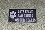 Sandblast Engraved Granite Pet Memorial Headstone Grave Marker Cat Paw 4×8 For Sale