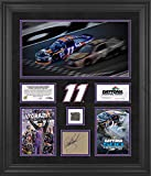 """Denny Hamlin Framed Autographed 20"""" x 24"""" 2016 Daytona 500 Champion Race Winner Collage with Track - Limited Edition of 111 - Fanatics Authentic Certified"""
