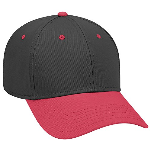 file Superior Cotton Twill Cap - Red/Blk/Blk ()