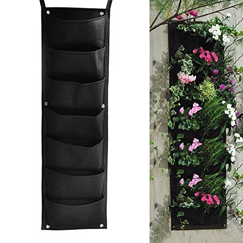 Wrisky 7 Pocket Hanging Vertical Garden Planter Indoor / outdoor Herb Pot Decoration
