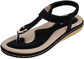 KUONUO Sandales Plates Femme