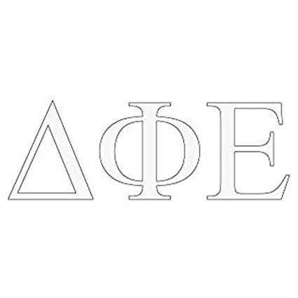 Amazon.com: Delta Phi Epsilon DPHIE Greek Letter Window ... on lambda sorority letters, tri delta letters, delta greek letters, delta sigma theta letters,