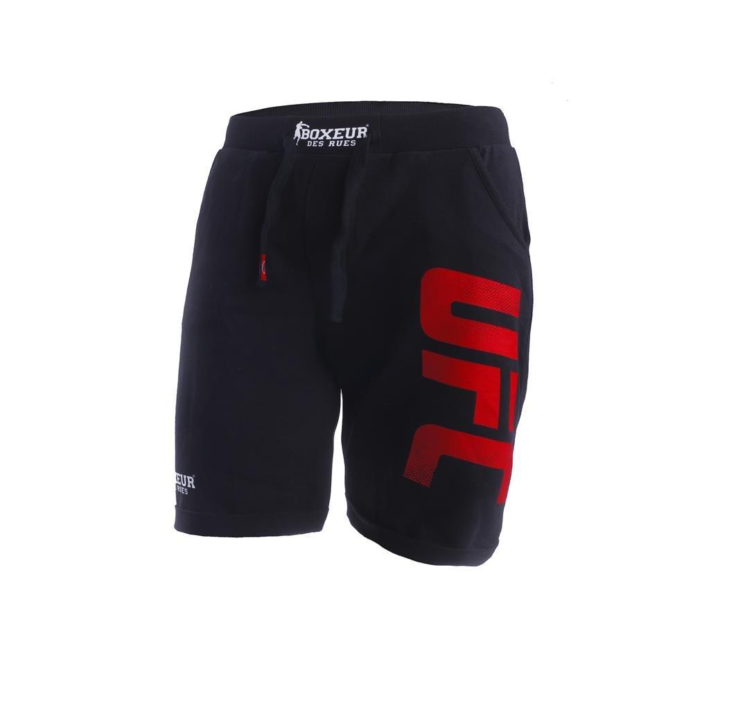 TALLA S. BOXEUR DES RUES Serie montados, pantalón Corto con Logo UFC para Hombre