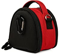 Red Limited Edition Camera Bag Carrying Case with Extra Accessory Compartment for Fujifilm FinePix Point and Shoot Digital Camera