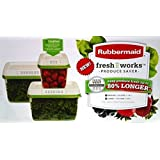 Rubbermaid FreshWorks Produce Saver with Fresh Vent (3-Pack)