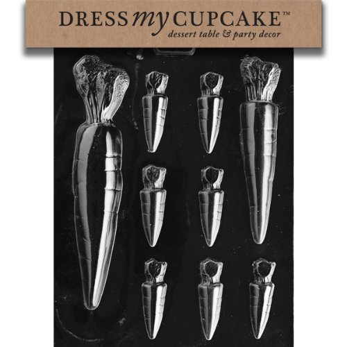 Dress My Cupcake Chocolate Candy Mold, Carrots Assortment, Easter