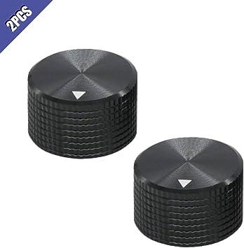 Knurled Shaft Potentiometer Eb 10 Volume Control Rotary Knobs Black for 6mm Dia