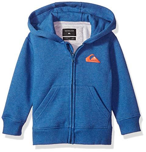 Quiksilver Little JAM IT Zip Boy's Fleece, Stellar Heather, 4 (Boys Kids Quiksilver Sweater)