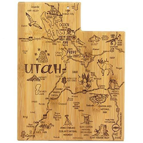 Salt Lake City Calls - Totally Bamboo Utah State Destination Bamboo Serving and Cutting Board
