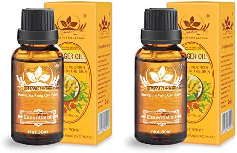 Ownest 2 Pack Ginger Massage Oil,100% PURE Natural Lymphatic Drainage Ginger Oil,SPA Massage Oils,Repelling Cold and Relaxing Active Oil-30ml