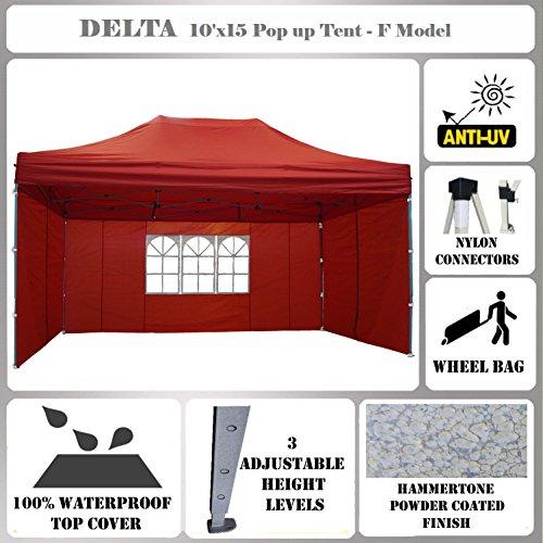 10'x15' Pop up Canopy Wedding Party Tent Gazebo EZ UP Red...