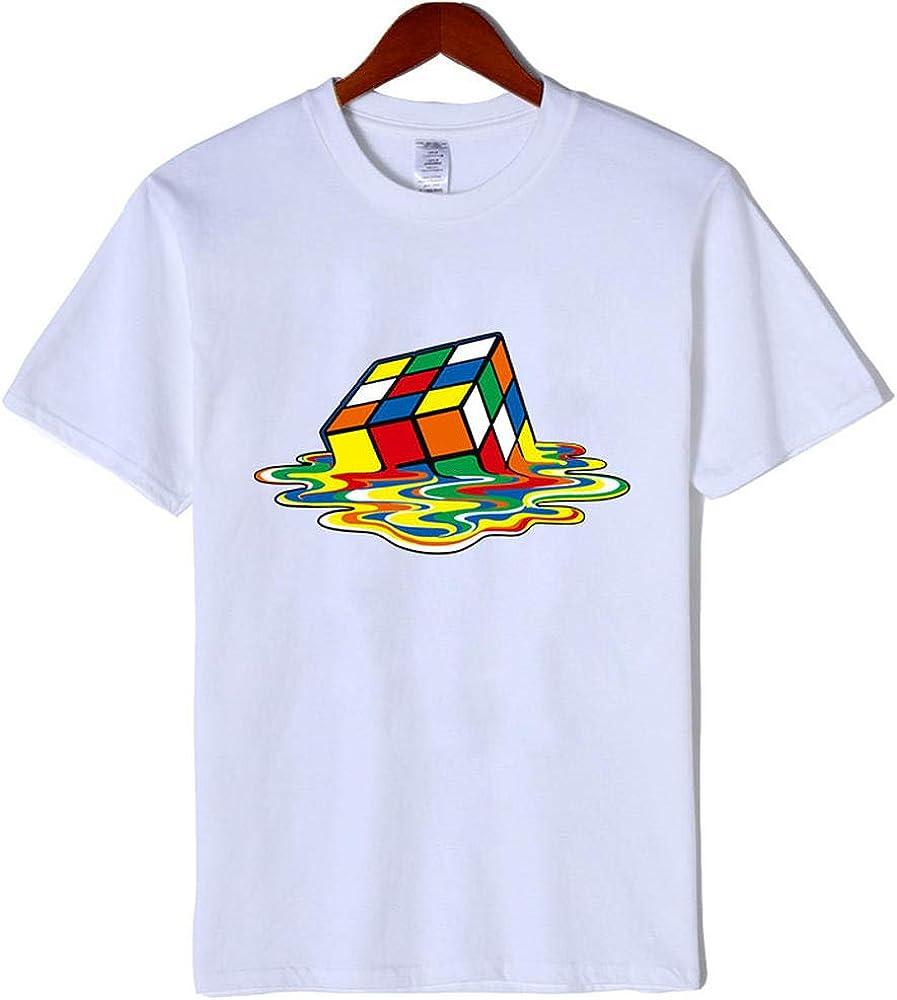LKTDM Moda Camiseta Hombre Cuadrados mágicos Camisetas de diseño Manga Corta Hombres Camisetas Algodón Ropa de Hombre Harajuku Camiseta Divertida, M: Amazon.es: Ropa y accesorios