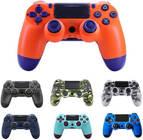 NXPS ソニーPS4ゲームパッドコントローラーフィットコンソールの場合Playstation4ゲームパッドデュアルショック4ゲームパッドのためにPS3用Bluetoothワイヤレスジョイスティック (色 : Type2 blue)