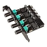 Lamptron PCI Bracket 4-way High Power Fan Controller, Black
