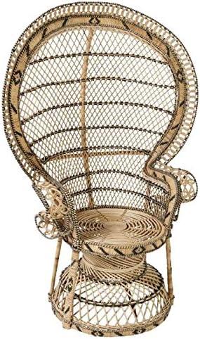 Poltrona in rattan tinto marrone modello Emmanuelle dimensioni 82/x 70/x 140/cm