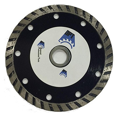 DPT 4- Inch Diamond Saw Blade Wet/ Dry Turbo for Cutting Tile, Ceramic, Granite, Concret, Bricks, Stone, and Masonry Materials, Super Plus Quality (Dry Plus Diamond Blade)