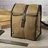 Image of Fit & Fresh Men's Classic Roll Top Insulated Lunch Bag with Ice Pack, Light Brown