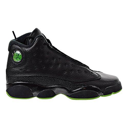 Air Jordan 13 Retro Big Kids' Basketball Shoes Black/Altitude Green 414574-042 (4.5 M US)
