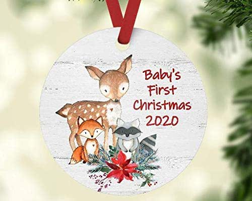 Amazon.com: Baby's First Christmas 2020 Ornament   Woodland