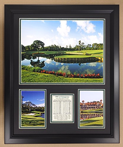 Legends Never Die PGA TPC Sawgrass Golf Course Double Matted Photo Frame, 18