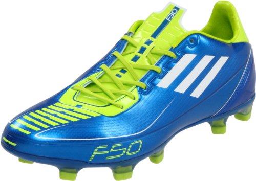 adidas Men's F30 TRX FG-M, Anodized Blue/White/Slime, 6.5 D US