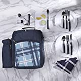 Flexzion Picnic Backpack Kit - Camping Bag Set for