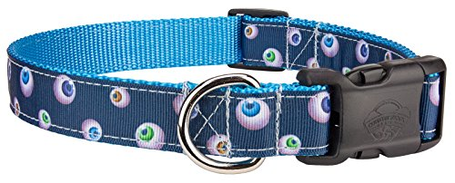 Country Brook Design Deluxe Spooky Eyes Ribbon Dog Collar - Large