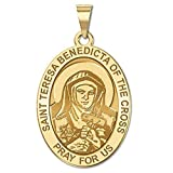 Saint Teresa Benedicta of the Cross - Oval Religious Medal