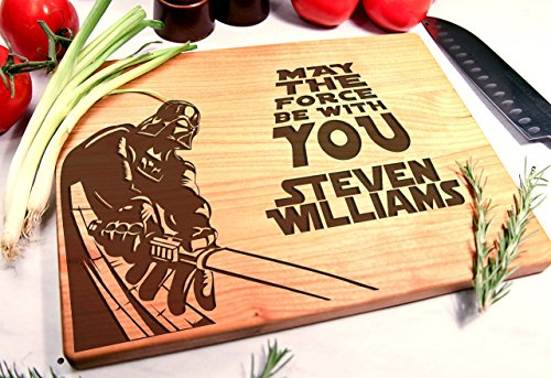 Personalized Cutting Board Engraved Chopping Block - Star Wars
