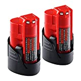 Batteries for Milwaukee M12 48-11-2401 Replace RED LITHIUM 12-volt 3.0Ah Cordless Tool Battery