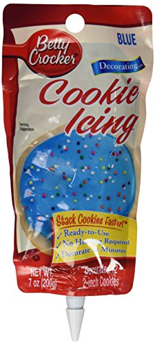 Betty Icing Crocker (Betty Crocker Blue Cookie Icing, 7 oz)