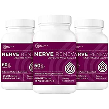 Image of Life Renew: All-Natural Neuropathy Support Supplement with Stabilized R-Lipoic Acid - Absorbs Fast - Alternative Nerve Pain Treatment - 30 Day Supply (60 Count) - 3pk Health and Household
