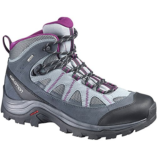 Salomon Women's Authentic LTR GTX W Backpacking Boot, Pearl Grey/Grey Denim/Mystic Purple, 9 M US by Salomon (Image #2)