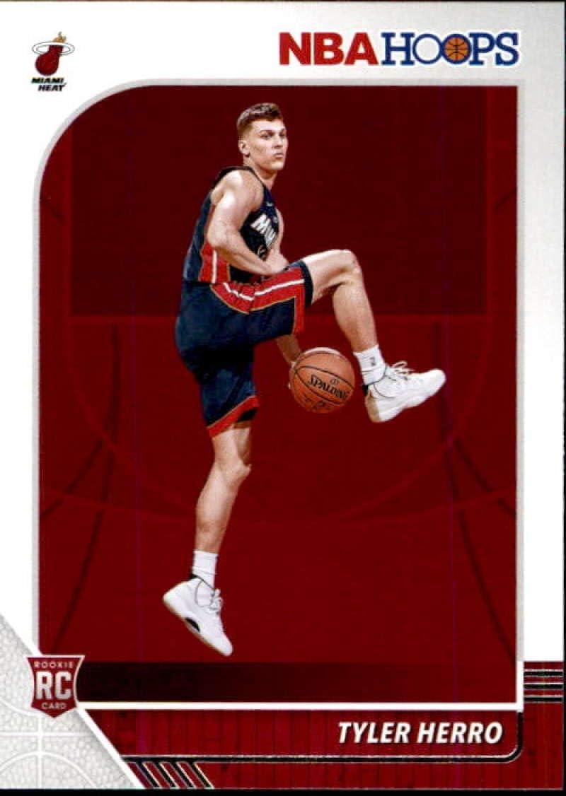 Amazon Com 2019 20 Panini Nba Hoops 210 Tyler Herro Miami Heat Rookie Basketball Card Collectibles Fine Art