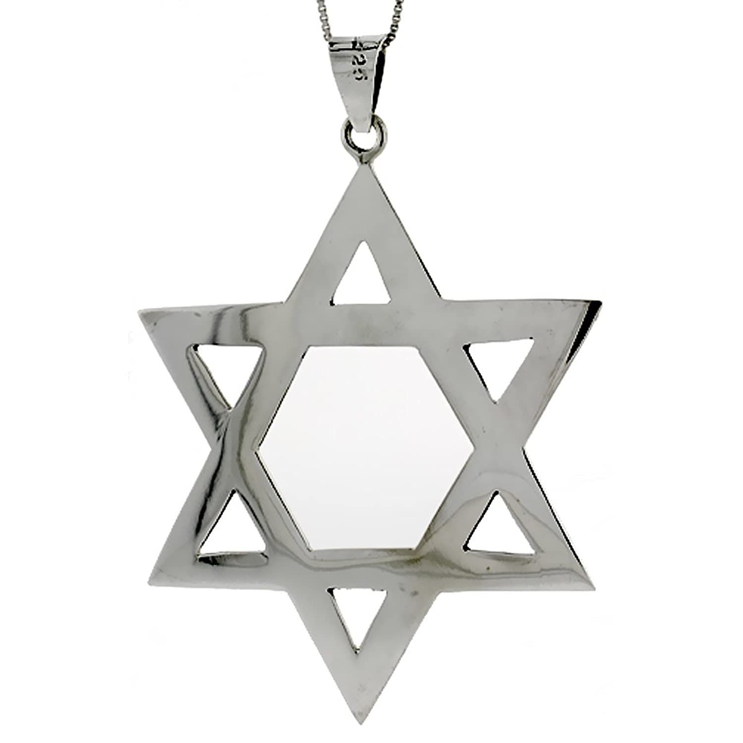 pchaistar pendant jewelry starofdavid david star pk sterling bling jewish silver chain magen beaded necklace ash of