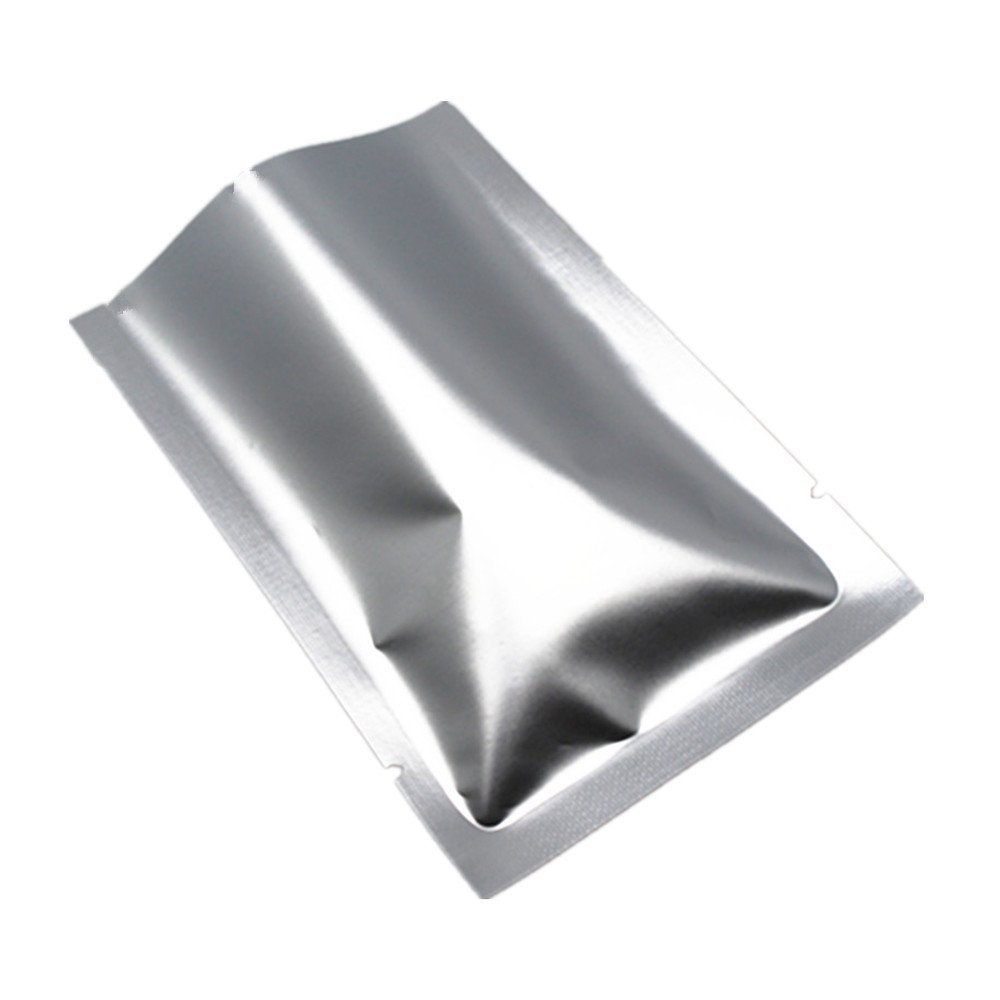 Pack of 1000 Matte Vacuum Sealer Silver Pack Pouch Aluminum Foil Mylar Bags Food Saver Bag Storage Pouches for Kitchen Tools Herbs Nuts Coffee Tea 3.9x5.9 inch