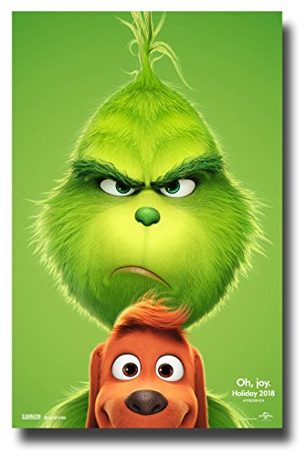 (The Grinch Poster Movie Promo 2018 Animated Benedict Cumberbatch 11 x 17 inches for Dr Seuss How the Grinch Stole Christmas)